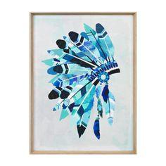 Vibrant Headdress | Aqua | Framed PrintThe Block Shop - Channel 9
