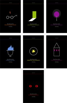 harry potter book cover design, minimalist & aesome