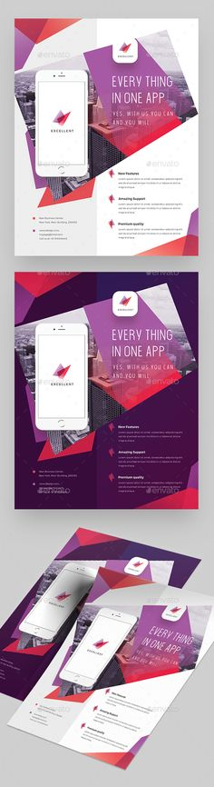 Creative Colorful App Flyer - Corporate Flyers