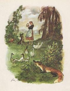 "(1960) book illustration created by J.M. Szancer for the novel ""O krasnoludkach…"