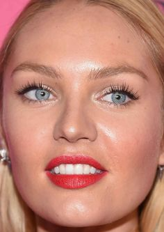 Close-up of Candice Swanepoel at the 2015 Victoria's Secret Fashion Show after-party.