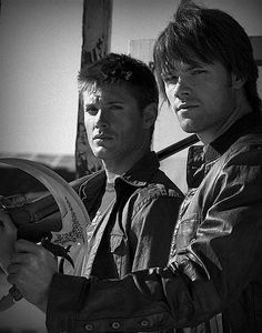 Dean and Sam Winchester the Supernatural boys who kick supernatural ass aka Jensen Ackles and Jared Padalecki.  Best show about the connection between brothers ever.!!!