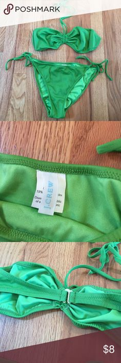 J Crew leaf green bikini Bottom is large, top is medium J crew Swim Bikinis