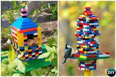 DIY Lego Birdfeeder - 20 #DIY Bird #Feeder Projects to Bring Life in Your Garden #Garden, #Bird,