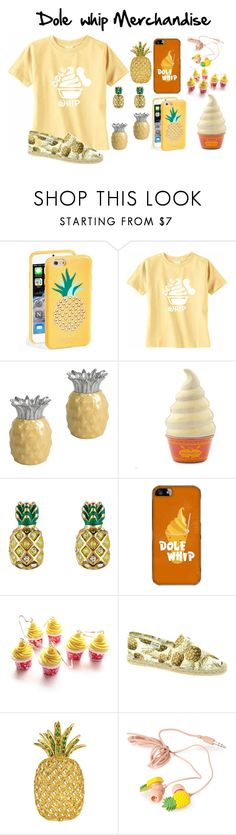 """""""Dole Whip Merchandise"""" by fashionista7331 ❤ liked on Polyvore featuring Kate Spade, Julia Knight, Disney, Juicy Couture, Samsung, Soludos, Buccellati and Forever 21"""