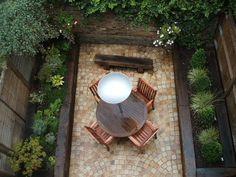Sleepers Patio Ideas, Garden Ideas, Outdoor Spaces, Outdoor Living, Railroad Ties, Raised Bed Garden Design, Decking Area, Railway Sleepers, Walled Garden
