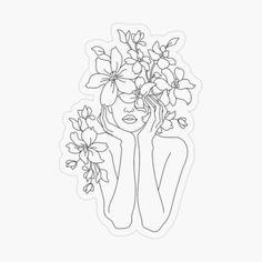 Art Abstrait Ligne, Art Sketches, Art Drawings, Drawing Drawing, Tumblr Flower, Art Minimaliste, Art Du Croquis, Outline Art, Abstract Line Art