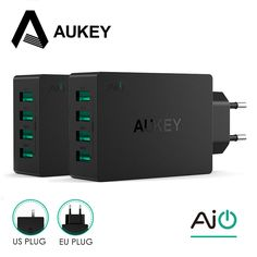 AUKEY Universal 4 Ports USB Charger Travel Wall Charger Adapter For iPhone7 Samsung S6 Smart Phones /PC/Mp3& USB Mobile Devices  Price: 12.49 USD