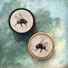 "Kettle of Fish Designs (@kettleoffishdesigns) on Instagram: ""I've finally managed to track down a new supply of wooden backs for my beautiful bee…"""