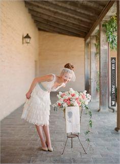 tea length wedding dress | CHECK OUT MORE IDEAS AT WEDDINGPINS.NET | #weddingfashion