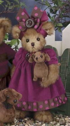 """Bearington Bears MOLLY & MOXIE 14"""" #179947~MOXIE the Dachshund Dog is 5""""~ NEW FALL 2013 Bearington Bears http://www.amazon.com"""