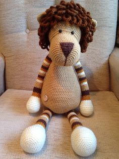 Amigurumi lion made using a Stip and Haak pattern