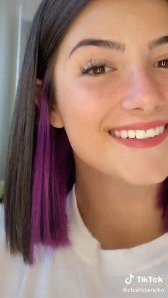 Purple Hair Streaks, Hair Color Purple, Ombre Hair, Blue Hair, Brown Hair Colors, Green Hair, 90s Grunge Hair, Short Grunge Hair, Semi Permanent Hair Color