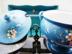 Vintage Turquoise French Enamelware