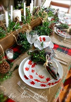 Mikasa 'Pure Red' Place-setting for Fall. Holiday Ideas, Christmas Ideas, Holiday Decor, All Things Christmas, Winter Christmas, Place Settings, Table Settings, Holiday Countdown, Mikasa