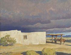 Maynard Dixon, December Sky, Tucson, 1940