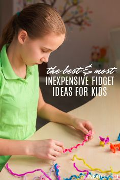 Tons of inexpensive and free ideas for fidgety kids or those fidgety students in your classroom Toys For Autistic Children, Adhd Kids, Children With Autism, Adhd Activities, Fun Activities For Kids, Infant Activities, Autism Parenting, Kids And Parenting, Parenting Tips