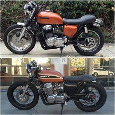 Honda Transformation. The smallest things make the biggest changes! #Custommade #caferacer #bratstyle #LosAngeles #Restoration #Rebuilt #HondaCB #Honda #Suzuki #Fuewellmoto