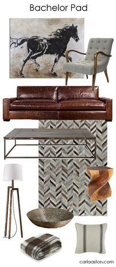 A Guy's Guide to Decorating Their Bachelor Pad — DESIGNED w/ Carla Aston / Some perfectly manly gifts for the mancave for Father's Day. Masculine Living Rooms, Masculine Interior, Masculine Office Decor, Men Apartment, Apartment Design, Apartment Interior, Apartment Layout, Apartment Living, Bachelor Pad Decor