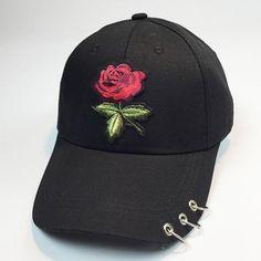 9f37953716b Women Men Couple Rose Baseball Cap Unisex Snapback Hip Hop Flat Hat  Baseball caps Adjustable 1 Baseball cap Cotton Blend gorra