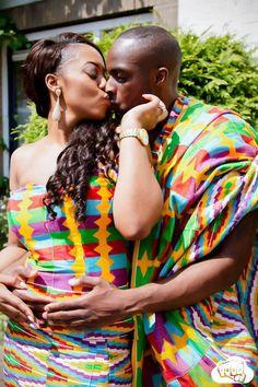 Fashion Ghana Magazine | Mr. and Mrs. Opoku | Kente Wedding | African Fashion