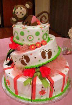 topsy turvy monkey cake