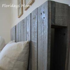 DIY wood palette Headboard