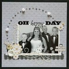 Wedding Scrapbook Layouts | ... scrapbook a wedding, scrapbooking page ...