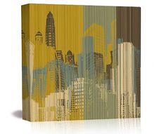 """Matthew Lew Ltd. Edition Chicago """"Urban Colors I"""" giclee print on canvas. Available at: http://www.mbymatthewlew.com/#shop"""