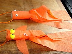 goldfish....ok THINKING about this...but 9 tubes and all that orange streamer...hmmmmm not sure
