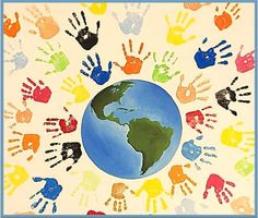 Diversity Wall Art - Painting - One World by Tim Gainey Art Activities For Toddlers, Earth Day Activities, Spring Activities, Art Drawings For Kids, Art For Kids, Crafts For Kids, Preschool Art, Preschool Activities, Earth Day Crafts