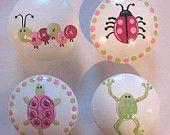 Kids Girls Garden Critter Drawer Knobs Nursery Cabinet Pulls