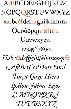 Claude Garamond : Fonte tipográfica Adobe Garamond Pro
