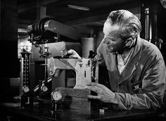 Vintage images of Bernina manufacturing and advertising