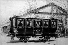 El vagón de tren de Isabel II (Madrid, 1864) | Fotografía del vagón de tren que la empresa M.Z.A. (Madrid-Zaragoza-Alicante) preparó para Isabel II