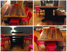 small table/big style, crafted by E. Braun Farm Tables and Furniture™  - We use wood from dismantled barns and log homes dating from the 1800's to early 1900's to create rustic, one-of-a-kind, reclaimed barn wood furniture, in the heart of Amish Country, Lancaster, PA. Custom orders are our specialty. Visit our showroom located in Intercourse, PA. www.braunfarmtables.com, www.Facebook.com/braun.farmtables