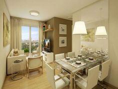 sala de jantar para apartamento pequeno 5