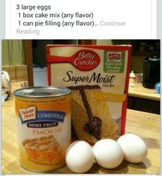 Cake mix and pie filling