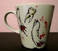 Teeth and Tips Coffee Mug - More awesomeness from the lovely Kristen Ferrell