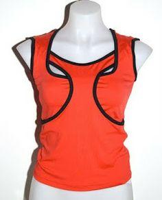 """Wrestler vest"" in red & black."