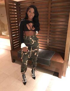 Black Girls Clothing Accessories, Casual wear on Stylevore Dope Fashion, Fashion Killa, Fashion Looks, Womens Fashion, Dope Outfits, Girl Outfits, Fashion Outfits, Pantalon Large, Swagg