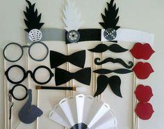 Photo Booth Props 19 morceau Roaring Twenties par kiriwaffles