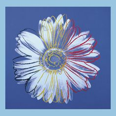 Andy Warhol Daisy Blue on Blue painting is shipped worldwide,including stretched canvas and framed art.This Andy Warhol Daisy Blue on Blue painting is available at custom size. Andy Warhol Flowers, Art Andy Warhol, Andy Warhol Museum, Pop Art, Art Bleu, Blue Poster, Print Poster, Kunst Poster, Oil Paintings