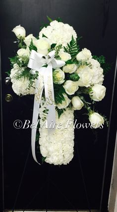 All white sympathy cross easel bel aire design
