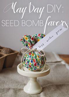 """Tarımsal hediye; tohum şekeri. Seed Bomb - """"Toss. Water. Grow."""""""