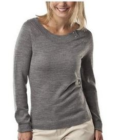 Gray boat neck sweater