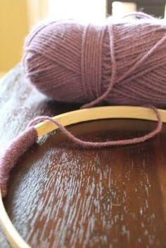 DIY nursery mobile (how to wrap hoop)