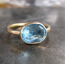 Clean Water Ring in Recycled Gold by Christine Mighion Jewelry