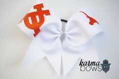 "3"" University of Texas Cheer Bow on Etsy, $5.65"