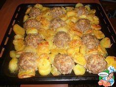 Мясные ёжики с картошкой под сыром - Кулинарные рецепты
